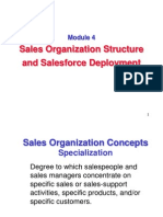 Sales Organization Structure and Salesforce Deployment
