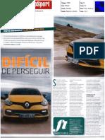 """NOVO RENAULT CLIO R.S. 200 EDC NO """"AUTOSPORT"""""""