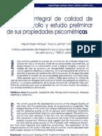 La Escala Integral de Calidad de Vida, Desarrollo y Estudio Preliminar