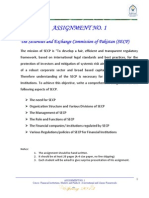 Assignment No. 1 - SECP