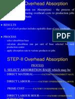 Overheads Absorbtion
