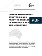 Change Management and Practice Development Literature Review