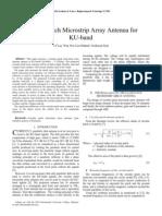 Circular Patch Microstrip Array Antenna