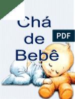 caderno chá de bebê