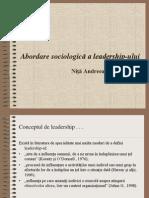 Abdordare Sociologica a Leadershipului