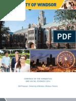 University of Windsor CHSS 2016 Proposal