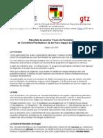 Formation Conseillers Bds Dakar