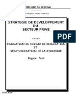 Strategie Secteur Prive