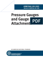 ASME B40.100-2005 Pressure Gauges and Gauge Attachments