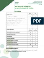 Plan de Estudios Curso Monitor 2013