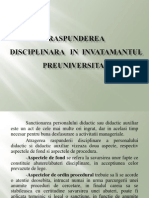 Raspunderea Disciplinara in Invatamantul Preuniversitar