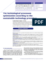 The Technological Processes Optimization