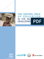 The Central Role of Education in the Millennium Development Goals