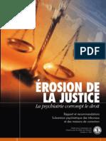 Erosion de La Justice La Psychiatrie Corrompt Le Droit