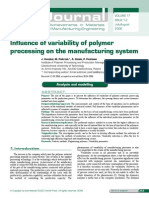 Influence of Variability of Polymer Processing on the Manufacturing System