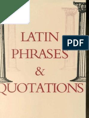 Latin Phrases | Dictionary | Translations