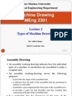 Lecture 2. Types of Machine Drawing