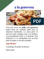 Pollo a La Genovesa