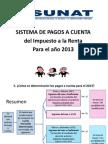 Pagos a Cuenta 2013 -DAOT 2012