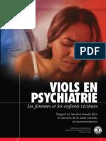 Viols en Psychiatrie Les Femmes Et Les Enfants Victimes