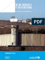 unicef opt children in israeli military detention observations and recommendations - 6 march 20132