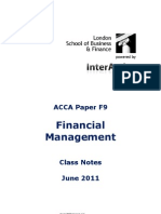 ACCA F9 - Financia Management - Lsbf Class Notes 2011 (Free)
