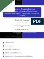 Correlaciones en Mecánica Cuántica