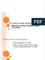 Long Form Audit Report