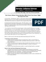 Media Release - Ortman - Gun Crime Enforcement Proposal - SF 1359 (2013)