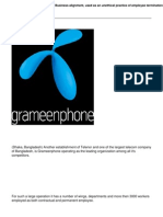 Grameenphone Bangladesh Business Alignment Used as an Unethical Practice of Employee Termination