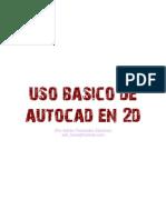 Uso Basico Autocad 2D - Adrian Fernandez