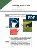Análisis ambiental de la carne y la leche bovina