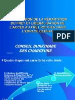 Supression de la Repartition du Fret et la Liberalisation de l'Acces au Fret Routier dans l'Espace CEDEAO (en français)