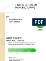 Drivers of Green Manufacturing