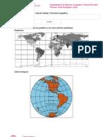 4 Guía de Ejercicio Tema paralelo, latitud, meridiano, longitud