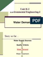 Unit II 2 Environmental Engineering I