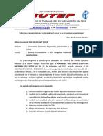 Documentos Rumbo al XVI Congreso Nacional SUTEP