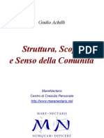 Achill Giulio--struttura Scopo Comunita