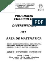 Programa Curricular Diversificado JCA - 2013