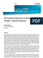 The Concept of Deterrence in Arab and MuslimThought – Executive Summary