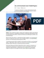 12-03-2013 Milenio - Puebla certificada a nivel nacional como Ciudad Segura.pdf