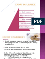 Types of EXPORT Insurance