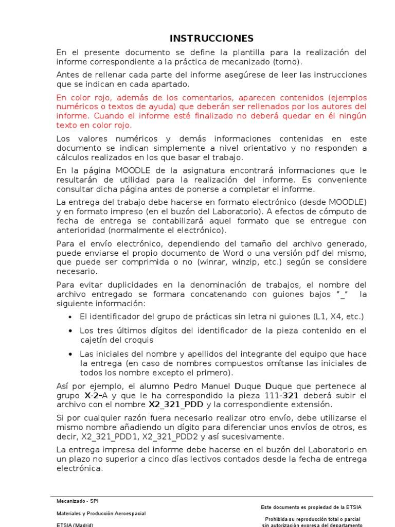 Spi Formato Informe Mecanizado R2 0 Proceso Nocroq Doc