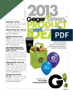 Geiger Green Guide 2013
