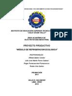 Modulo de Refrigeracion Ecologica (Julio Ponce Salazar)