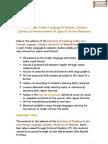 Free Arabic Language Syllabus and Special Resource