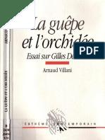 b523de7112e338 45274415 Arnaud Villani La Guepe Et l Orchidee Essai Sur Gilles Deleuze