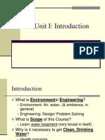 Unit I Environmental Engineering I