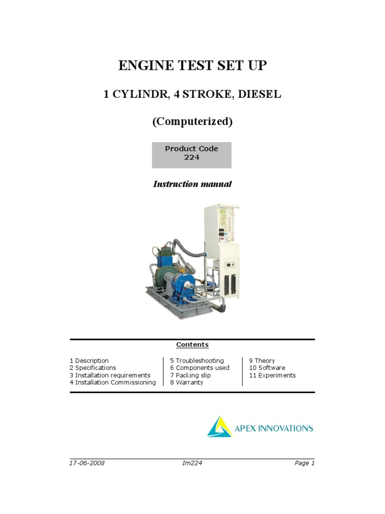 Manual for Test Rig Im224.pdf   Internal Combustion Engine   Power (Physics)