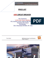 ABB LuckyIndia Circuit Breaker Pricelist